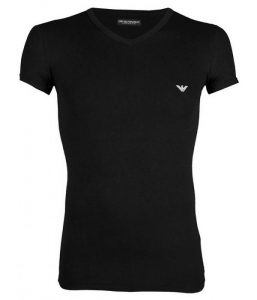 zwarte v-hals t-shirts emporio armani