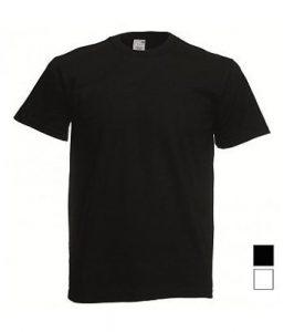 12 zwart t-shirt fruit of the loom