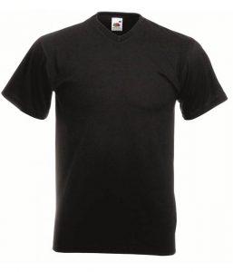 zwarte v-hals t-shirts fruit of the loom