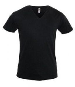 zwarte v-hals t-shirts logostar